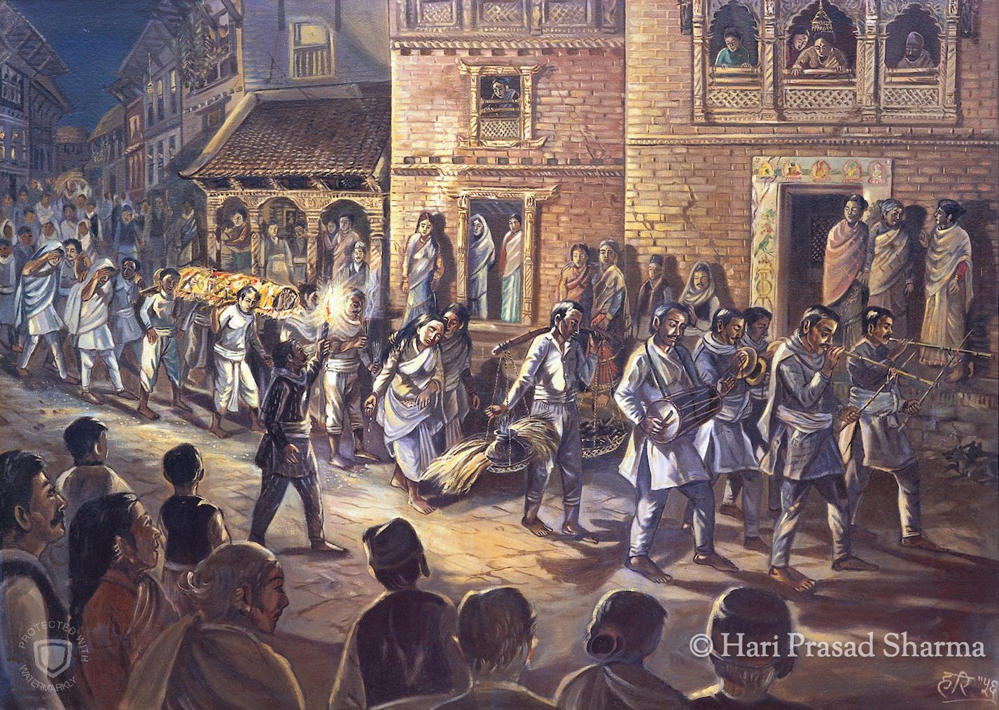 Newari Funeral Procession